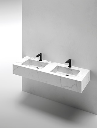 Lavabo integrado doble